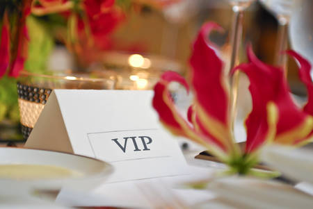 Dinning VIP Card Stock Photo
