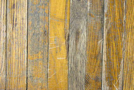 A old dirty brick parquet. Rough surface texture. parquet with stains of paint and dirt. Natural wood texture for background. Wood texture background surface with old natural pattern. Standard-Bild