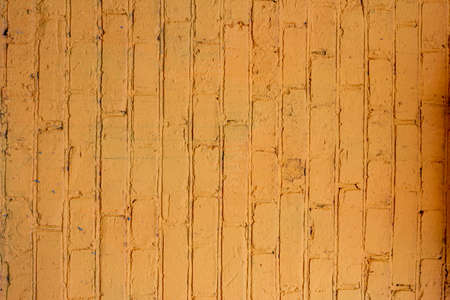 Abstract yellow color brick wall texture for background. Textured Background Illustration. Abstract weathered texture stained old stucco yellow color brick and aged paint yellow color brick