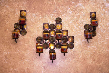 decore: Candle holder home fixture.  Stock Photo