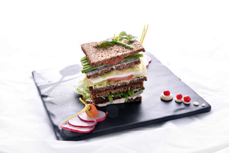 asparagus sandwich with vegetables Stock Photo