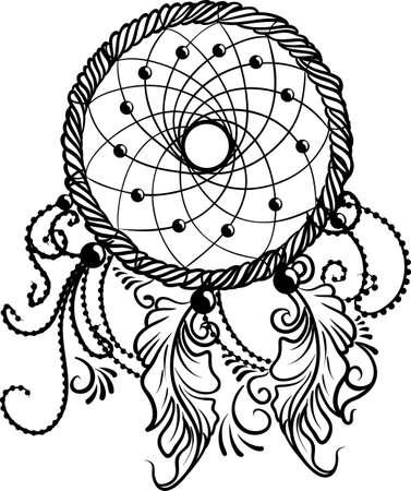 lineart: Line Art of a dreamcatcher