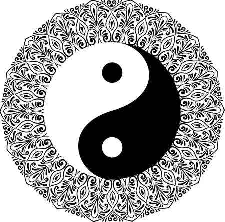 Yin yang decorative symbol