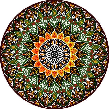 花曼荼羅の図面。  イラスト・ベクター素材