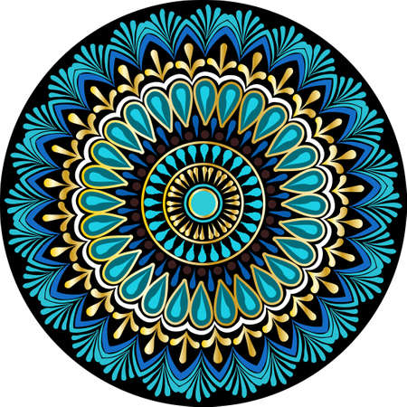 Drawing of a floral mandala