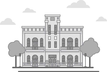 classic style house with columns