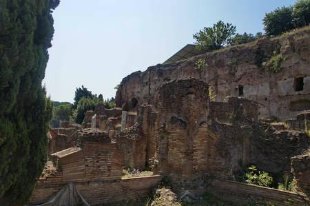 part of Sostruzioni della Terrazza, Rome, Italy, summer Stok Fotoğraf