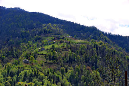 Village in the mountains of Georgia, Adjara, spring