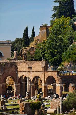 view of Forum of Caesar in Rome Banco de Imagens