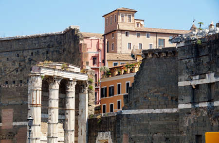 buildings in the center of Rome, Italy