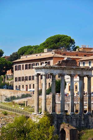 view of Forum of Caesar in Rome Stok Fotoğraf