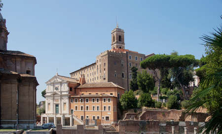 historical buildings in the center of Rome, Italy