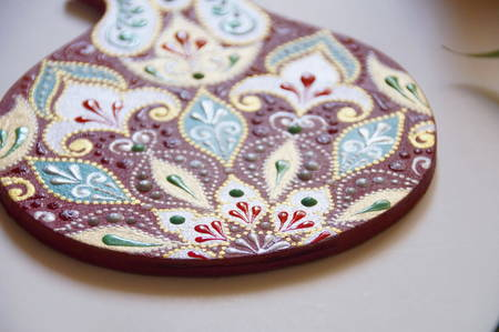 Handpainted apple with intricate ornate pattern