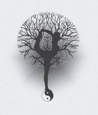arbol de la vida: Árbol de la Vida Armonía y Equilibrio Yoga
