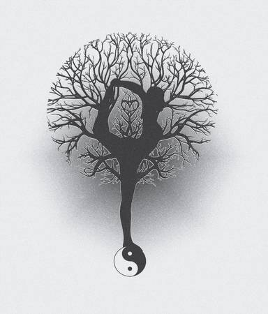 black tree: Tree of Life Harmony and Balance Yoga