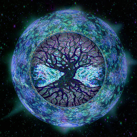 Tree of Life in Space Stok Fotoğraf