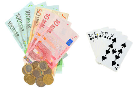 Euro money as prize in poker Stock Photo - 12206769