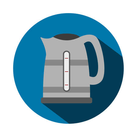 Vector illustration of a flat kettle Vector