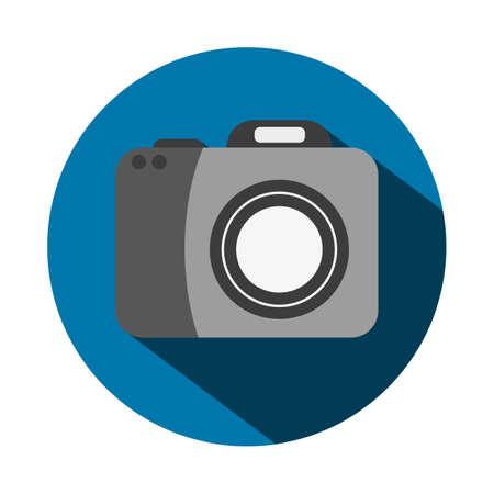 hand held computer: Vector illustration of a flat camera