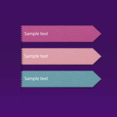 Vector illustration of a leather strap on a purple background. Vector