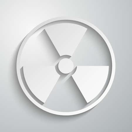 radiation sign: Vector illustration of a radiation sign paper. Illustration