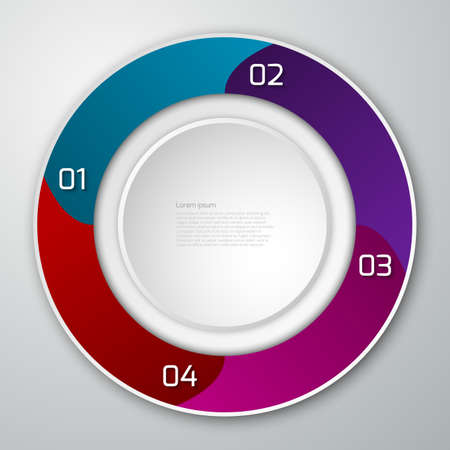 sectors: Vector illustration infographics circle divided into sectors. Illustration