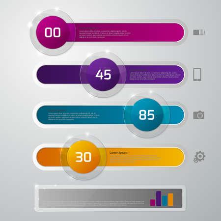 slider: Vector illustration infographics glass slider.