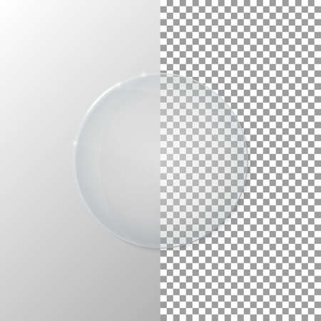 Vector illustration of a transparent glass circle.