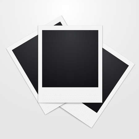 Vector illustration of a realistic instant Photo.