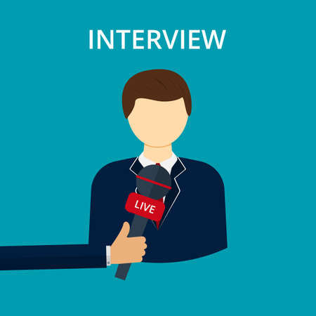 interviewer: Vector illustration interview. Illustration