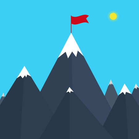 Vector illustration of a mountain.