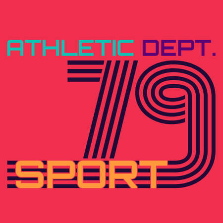 dept: athletic dept. typography, t-shirt graphics. vector illustration. Illustration