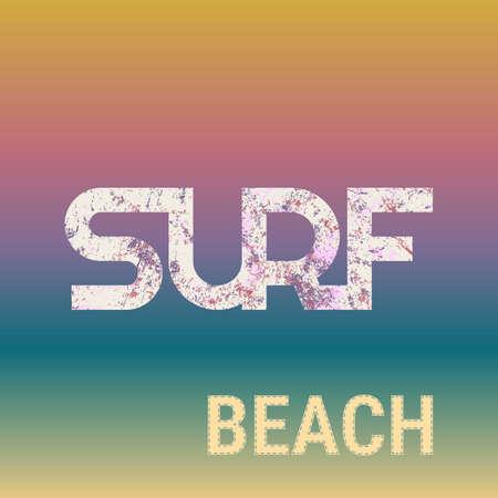 surf typography tshirt graphics. Vector illustration. Çizim