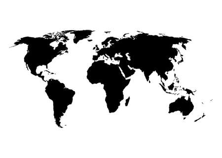 Vector illustration of a world map.