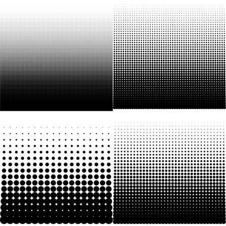Vector illustration set of halftone. Illusztráció