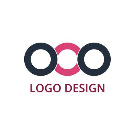 looped shape: Vector illustration of circle logo. Illustration