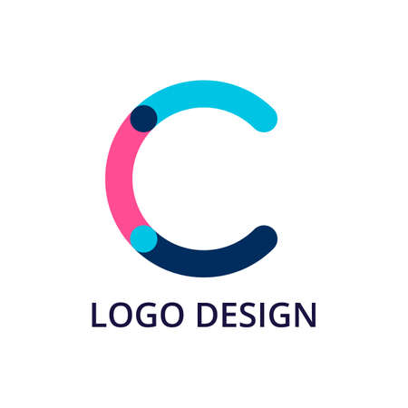Vector illustration lettre logo c.