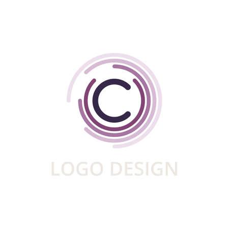 Vector illustration letter logo c.  イラスト・ベクター素材