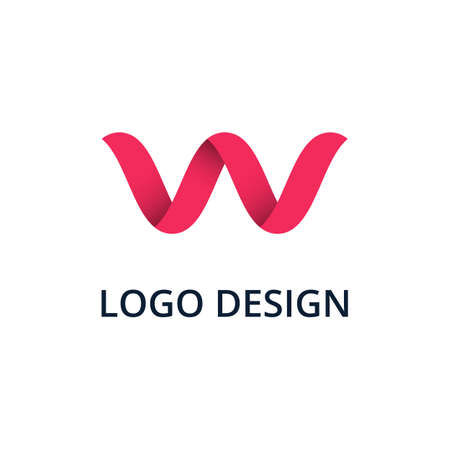 Vector illustration letter logo w.