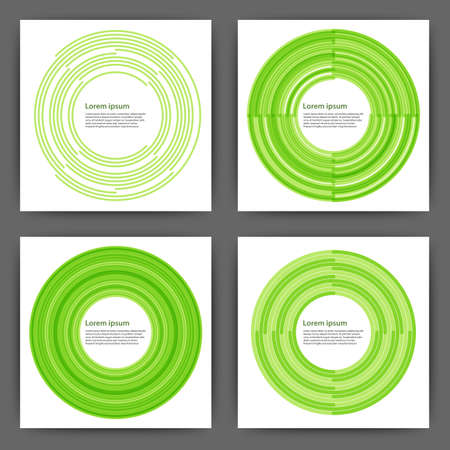 Stock Vector Design template square cards with circles.