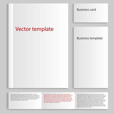 magazine stack: Vector illustration of a mock up card a4. Business Card Template.