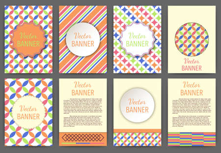 a4: Vector illustration set of invitations banner a4.