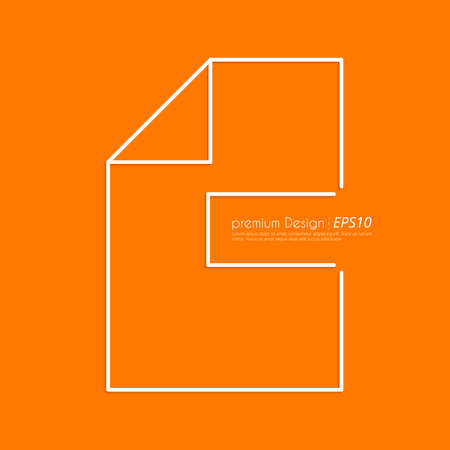 extensible: Stock Vector Linear icon file. Flat design.