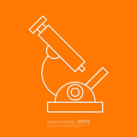 criminology: Stock Vector Linear icon microscope . Flat design.
