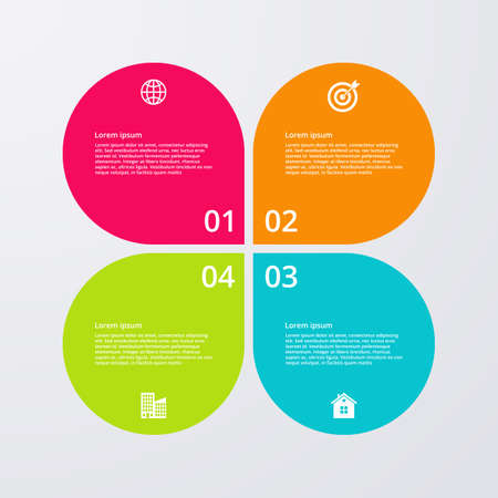 business process diagrams: Vector illustration infographics four options.