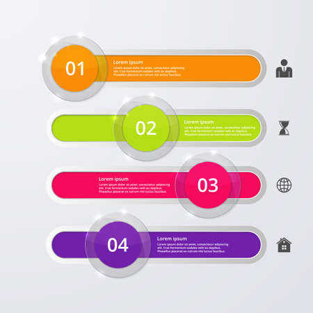 glas 3d: Vector illustration infographics four options