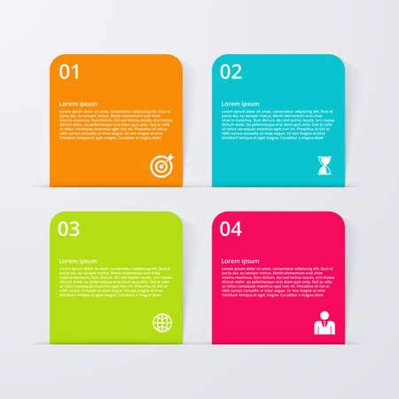 out of order: Vector illustration infographics four options.