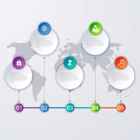 decade: Vector illustration of a timeline infographics. Illustration