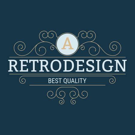 organic background: Vector illustration. Luxury design monograms. Retro design.