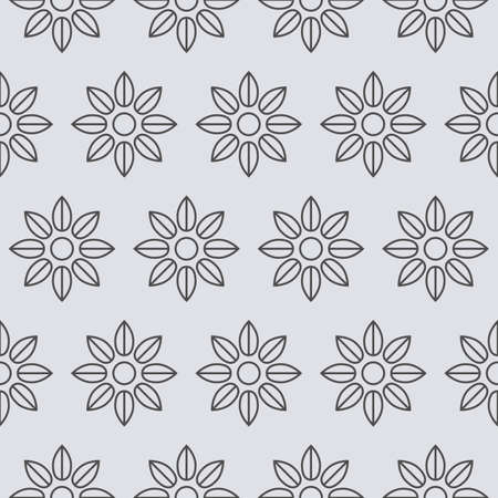 whorls: Vector illustration of a seamless pattern of flowers.